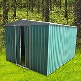 CTlite Abri de Jardin en métal pour extérieur avec Fond de Teint et Toit de Selle pour Jardin extérieur