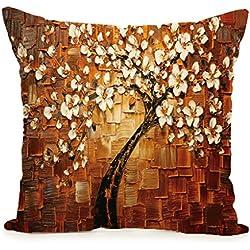 CADANIA Cuscino per Albero Vintage copridivano Decorazione per la casa - Arancione