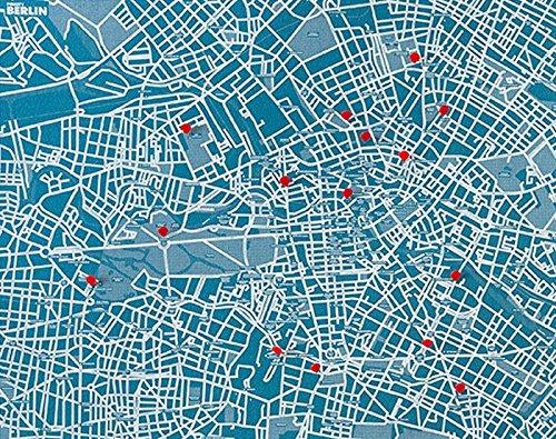 Observatorium Kiefer City-Karte der Stadt Berlin für die Wand, Blau (Home-observatorium)