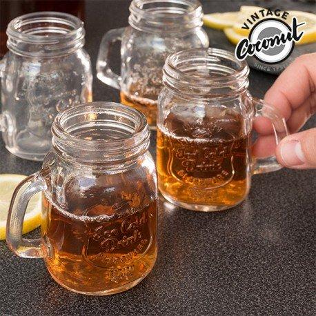 Set of 4 Vintage jar Shot Glasses