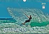 Kitesurfen - über den Wellen (Wandkalender 2018 DIN A4 quer): Kitesurfing, ein ultimativer Funsport, der täglich neue Anhänger findet. (Monatskalender, 14 Seiten ) (CALVENDO Sport)