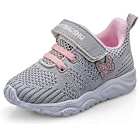 Baby Girls Trainers Non Slip Kids Toddler Little Girl Sneakers First Walking Shoes for Crib Daily Casual Outdoor…