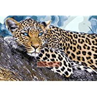 Leopard on Tree kit punto croce contato (16 ct Aida)