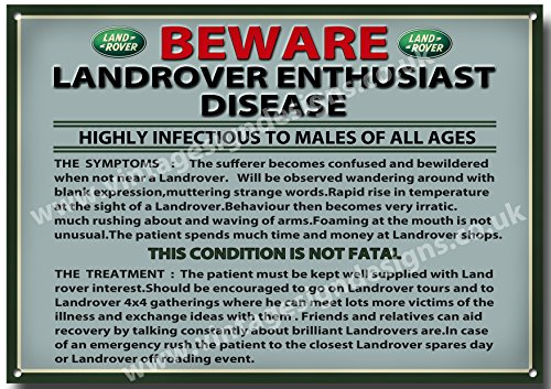 humorous-land-rover-disease-quality-metal-sign