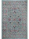 Benuta Flachgewebeteppich Ayla Multicolor/Türkis 120x170 cm - Vintage Teppich im Used-Look