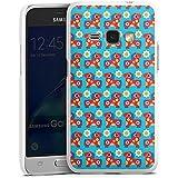 Samsung Galaxy J1 (2016) Hülle Schutz Hard Case Cover Blumen Pferd Muster