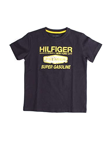 216b37bc TOMMY HILFIGER BJ57104871 T-SHIRT Kids NAVY 7Y: Amazon.co.uk: Shoes & Bags