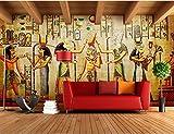 Yosot Benutzerdefinierte 3D Fototapete Bar Ktv Persönlichkeit Retro Europäischen Menschen Pharao Von Ägypten 3D Wandbild Tapete-200Cmx140Cm