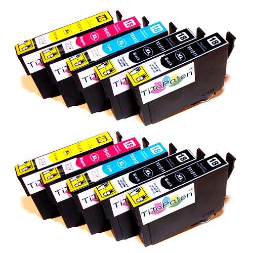 10x Epson Expression Home XP - 312 kompatible XL Druckerpatronen - 4xSchwarz-2xCyan-2xMagenta-2xGelb - Patrone MIT CHIP !!!