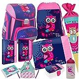 0bc679053711e Eule Owl 10 Teile SET SCHULRANZEN RANZEN TORNISTER FEDERMAPPE TASCHE  Schultüte mit Sticker von Kids4shop.