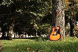 Lindo Guitars Guitare électro-acoustique dreadnought avec accordeur numérique et sorties XLR/jack et housse de transport