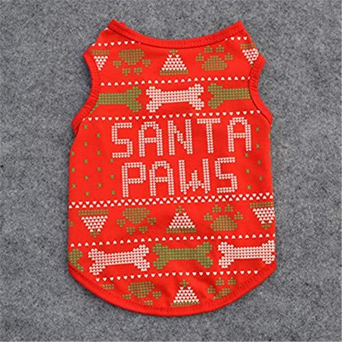 LmqhGzuqume Haustier-Hundeweste Netter Entwurf Kleine Welpen-Katze-Baumwollkleidung Pet PuppiesRed L (rot) L -
