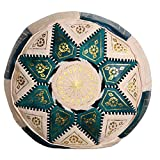 Casa Moro Marokkanisches Leder Sitzkissen Hocker orientalisches Leder Sitzkissen Nejma Grün