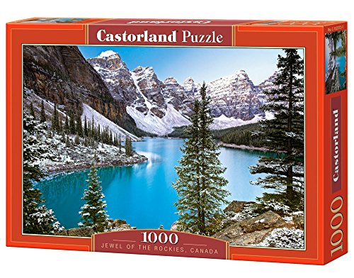 Castorland The Jewel of The Rockies, Canada 1000 pcs Puzzle - Rompecabezas (Canada 1000 pcs, Puzzle Rompecabezas, Paisaje, Niños y Adultos, Niño/niña, 9 año(s), Interior)