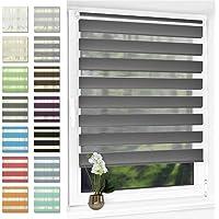 Doppelrollo klemmfix ohne Bohren Duo Rollo für Fenster,lichtdurchlässig und verdunkelnd Wandmontage Sichtschutz, 40 x…