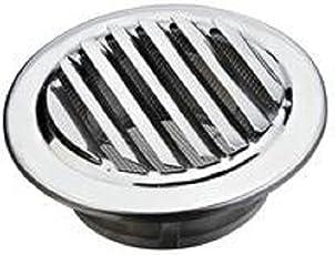 Edelstahl Lüftungsgitter Abluft, Grill, wetterfest, Air rund Grill,-Cover mit Flansch und Insektenschutz für Badezimmer Büro Raum