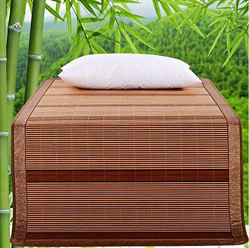 Coole Matratze Home Textiles Liangxi Bambusmatte doppelte verkohlte doppelseitige Bambus-Coole Matten können gefaltet Werden Klimatisierte Sitze 1,5 Meter Bett Coole Bambusmatte (größe : 90 * 195cm)