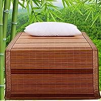 Preisvergleich für Coole Matratze Home Textiles Liangxi Bambusmatte Doppelte verkohlte Doppelseitige Bambus-Coole Matten können Gefaltet Werden Klimatisierte Sitze 1,5 Meter Bett Coole Bambusmatte (größe : 90 * 195cm)