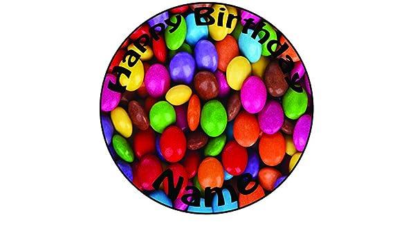 Personalisierter Smarties Zuckerguss Kuchen Topper