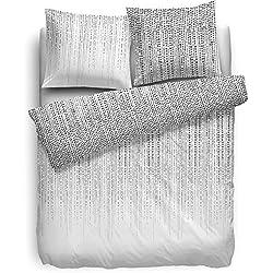 F2F Ropa de cama Sven–135x 200cm–Color Blanco Lunares