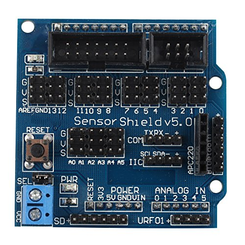 haljia Sensor Schild V5.0Expansion Board für Arduino UNO MEGA R3Mega2560Duemilanove Nano Robot V5.0Expansion Modul -