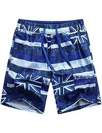 Fuyingda Hombres Mujer Deporte Pantalón Casual Pantalonetas Shorts de playa Surf Cortos