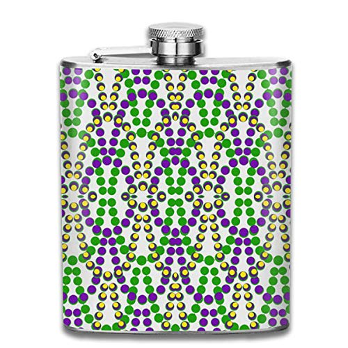 z Pocket Hip Alcohol Liquor Flask Print Printing-Made from 304(18/8) Food Grade Stainless Steel ()