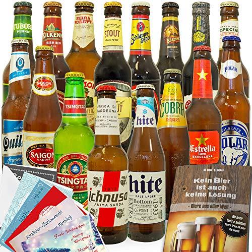 16x Bier der Welt | Bier Geschenkset | Geschenkset Bier