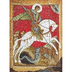 THEA gouverneur St. George y el dragón en Aida–Kit para cuadro de punto de cruz, 18Count