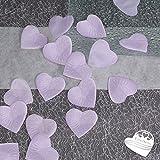 100x Rosenblüten Herz 4cm EinsSein® flieder Dekoration Blüten Blumen Hochzeit Streudeko Konfetti