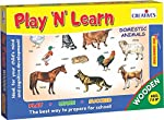 It is a puzzle game for toddlers where they can recognise and learn the names of domestic animals.