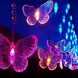 Mariposa led luz luces estroboscópicas linterna cadena cortinas de luz ,0.65*2m, 7 Mariposa de color