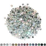 Pack of 1000 Crystal AB 2mm Resin Rhinestone Gems