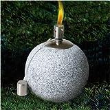 Kugel Öllampe in Steinoptik