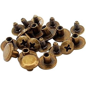 KUNSE 100Pcs Set Doppelt Caps Nieten Nieten DIY Handwerk F/ür Taschen Schuhe Leder Dekorationen-#1