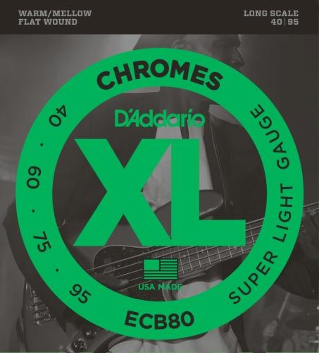 D'Addario ECB80 Bass XL Saitensatz 0,10 cm - 0,24 cm (.040 - .095 Zoll)