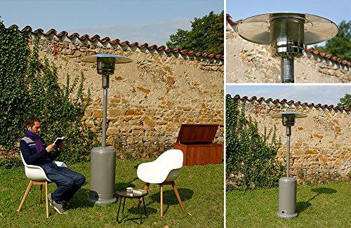 Gpl Bouteille GAZ Fire Pit Brûleur uniquement Square 18 kW chauffage de terrasse UK Brightstar