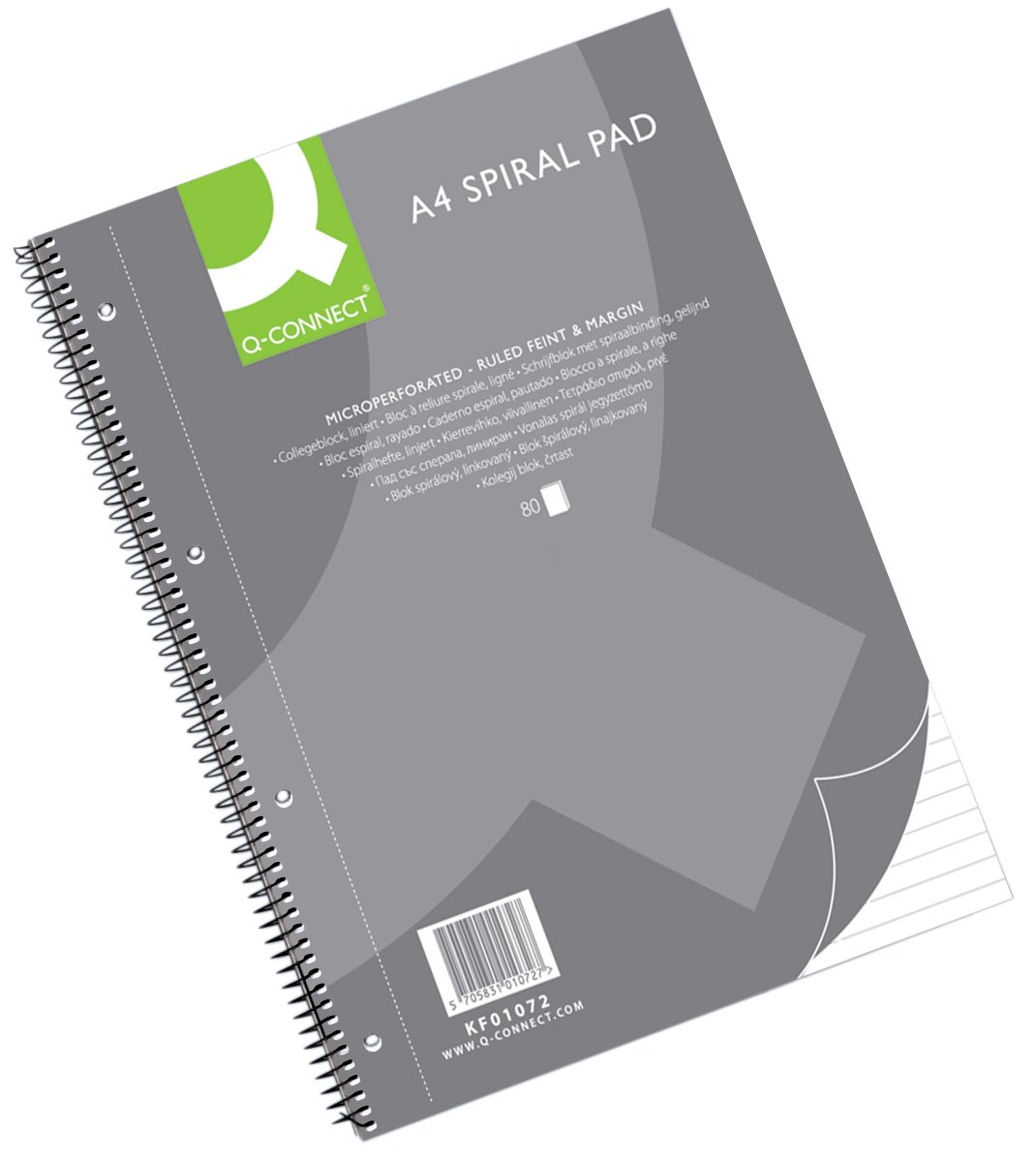 Q-Connect 70 GSM A4 Ruled College Pad Pack of 5