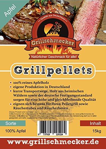Grillschmecker Grillpellets Apfel 100{9dca6a17559916d1dc55ae8ac94476d280167a043bd12512379adf125f13eef8} Apfelholz