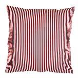 Hans-Textil-Shop Kissenbezug 40x40 cm Streifen 5 mm Rot