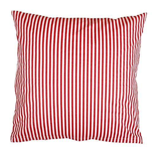 Kissen Maritim Rot - Hans-Textil-Shop Kissenbezug 40x40 cm Streifen 5