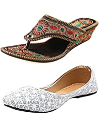 Thari Choice Ethnic Wear Jutti And Sandal Combo Pack