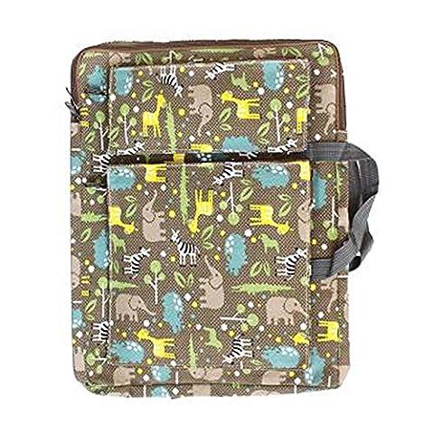 8K Canvas Carry Shoulder Bag For Painting Children's Portfolio Cartoon Backpack