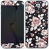 Samsung Galaxy S6 Edge Case Skin Sticker aus Vinyl-Folie Aufkleber Rosen Blumen Muster