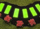 UPP® Gartenweg Platten nachtleuchtend 6er Set/Gartenplatten / Beetplatten/Trittplatten / Steinplatten/Beet / Garten
