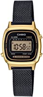 Casio - Montre Casio Collection Maille milanaise Noire (la670wemb-1ef)