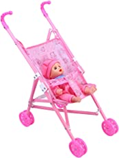 TOYMYTOY Baby Carriage Stroller Trolley Nursery Furniture Toys for Barbie Doll