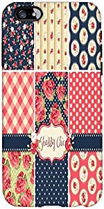 Snoogg Shabby Chic Rose Patterns And Seamless Backgrounds Designer Protective...