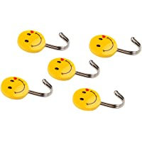 Zhenxin Self Adhesive Smiley Hooks, 5 Pieces, Load Capacity 0.5Kg
