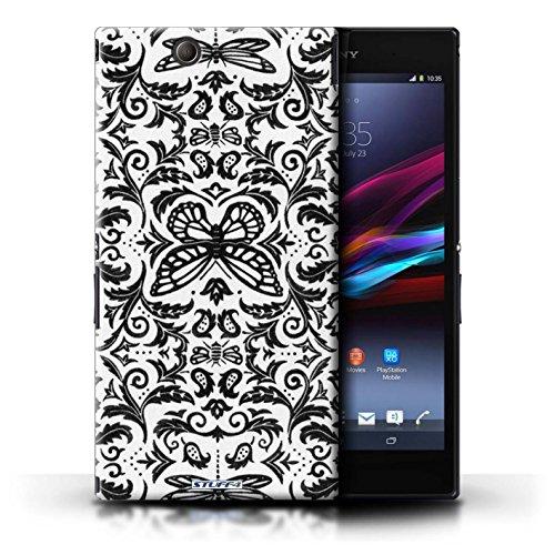 Kobalt® Imprimé Etui / Coque pour Sony Xperia Z Ultra / Jaune conception / Série Motif médaillon Noir / Blanc
